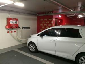 Nach längerer Suche fand ich die Parkplätze für Elektrofahrzeuge im Parkhaus Dom/Römer